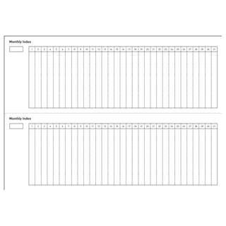 HOBO Printable templates A5 A6 Weeks