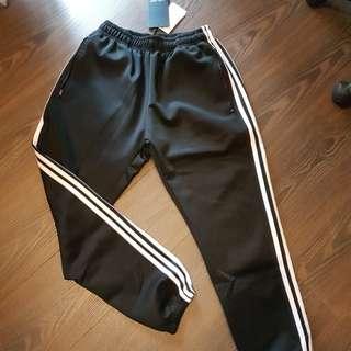 全新 條紋運動縮口褲 厚
