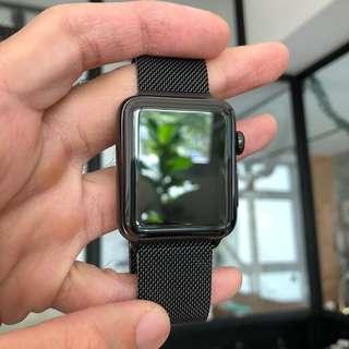 Apple Watch Series 2 Stainless Steel Black Milanese Loop
