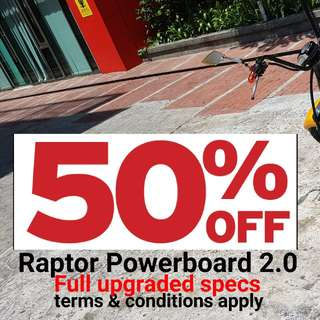 PROMO DECEMBER 50% RAPTOR POWERBOARD VERSION 2.0
