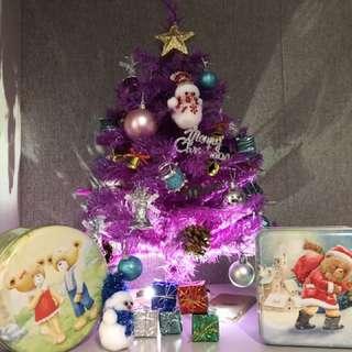 紫色聖誕樹 (只包樹上的配件)