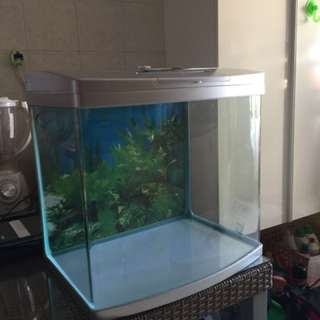 Fish Tank with 2 fluorescent light