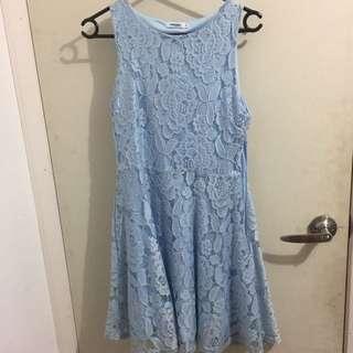 Summer Blue Valley girl Short Dress