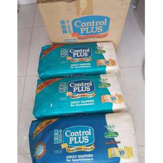 Adult Diapers L size - Control Plus