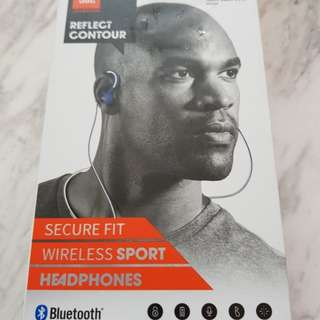 JBL by HARMAN Reflect Contour wireless sport headphones.