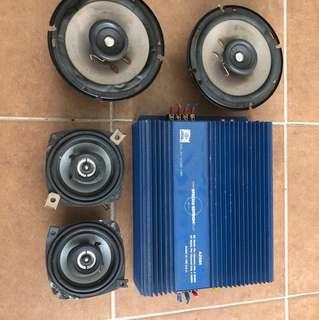 Car speaker set