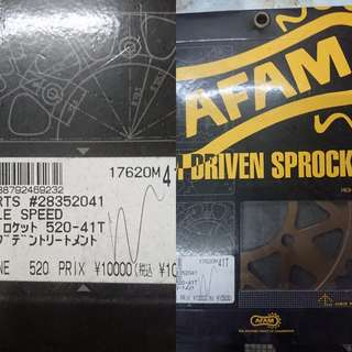 AFAM SUPER LIGHTWEIGHT SPROCKET FOR (GALESPEED) RIMS 41T