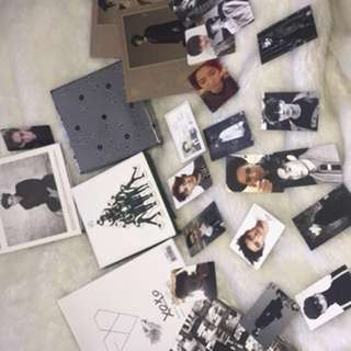 Variety of Exo Albums and a jonghyun from Shinee Album