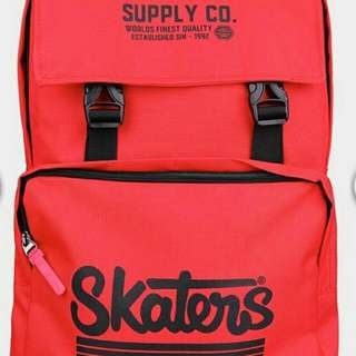 Tas Backpack Skaters Original Red Black
