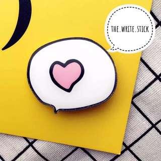 I Love You ❤️ Speech Bubble Acrylic Pin Badge Instocks