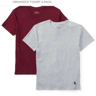 polo ralph lauren crewneck tee tshirt (pack of 2)