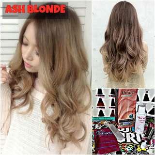 Ash Blonde Hair Dye / Color (NON DAMAGE)