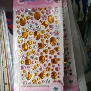 Bejeweled crystal stickers - cellphone, giveaways, art, scrapbook