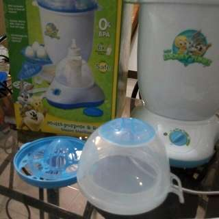 looney tunes multi-purpose & rapid steam sterilizer with complete accesories ( good as new)