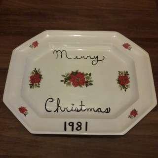 Christmas decor plate