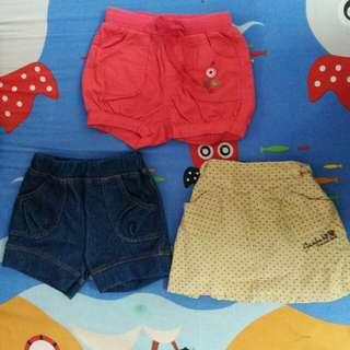 3pcs Short Pants rm18