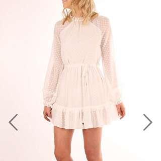 White Jean Jail Dress