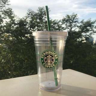 Original Starbucks Tumbler (with straw)
