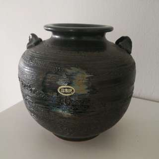Japanese pottery art vase 信樂燒