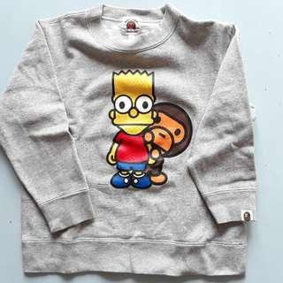 Bape Kids Simpsons 童裝衛衣 sweater 日本正貨 authentic