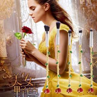 Beauty and the beast Disney style rose make up brushes