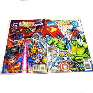 DC VS MARVEL # 3, 4 DC COMICS MARVEL COMICS