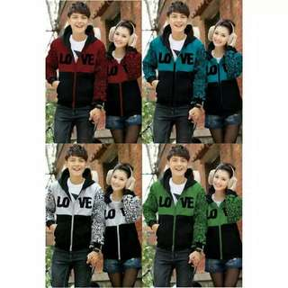 Kode :  jaket couple / jacket couple / jaket pasangan murah love leo