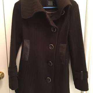 Mackage Women's Dark Brown Wool Jacket Size XS $60 REDUCED!!