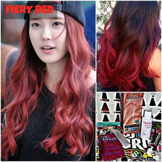 Fiery Red Hair Dye / Color (NON DAMAGE)