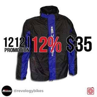 121212% PROMOTION! OGK RAINCOAT SET