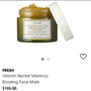 BNIB Fresh Vitamin Nectar Vibrancy-Boosting Face Mask