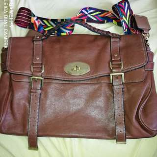 Mulberry Brown Alexa Satchel Bag