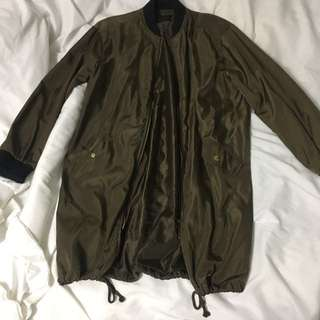 Windsor Store Long Bomber Jacket