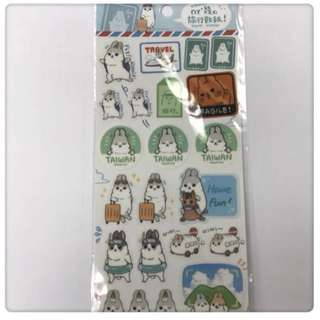 *ㄇㄚˊ幾兔 麻吉兔 台灣 旅行貼紙 聖誕小禮物