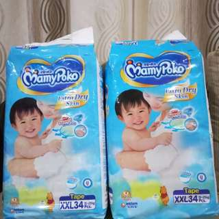 NEW ! MamyPoko Extra Dry XXL34 ( Twin Pack ) only RM 50 nett
