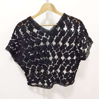 NEW! Black Laced Top