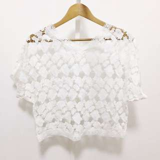 NEW! White Laced Top