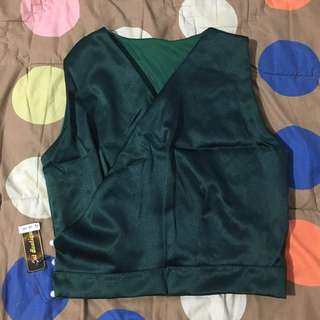 Baju crop top kimono green