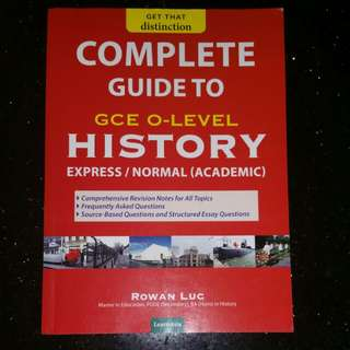 Complete guide to GCe O level History