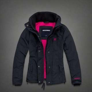 Abercrombie & fitch all season womens weather warrior jacket navy xs