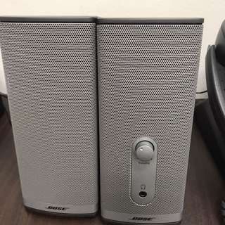 Speakers - Bose. Pre loved desktop speakers. With AC plug and all cables.