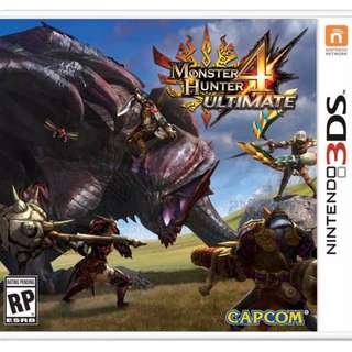 WTS : Nintendo 3DS Game : Monster Hunter 4 Ultimate cheap