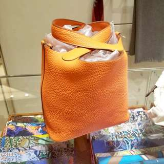 剛12月買入!🌟✨🌟Hermes Picotin 18 Orange Poppy 8V 波比橙 Clemence A年 銀 $20500