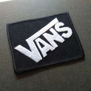 Vans Logo Skateboard Iron On Patch