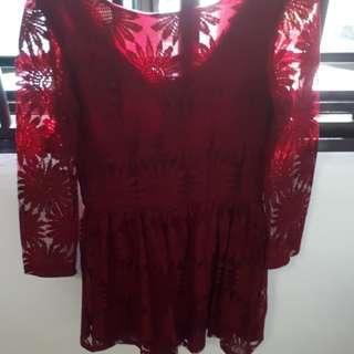 Maroon Women's Dress