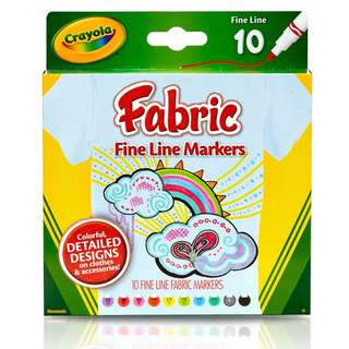 Crayola Fabric Fine Line Markers (588626)