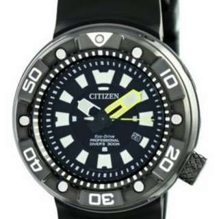 Citizen Promaster Eco-Drive Pro Divers 300M DLC Japan Made BN0177-05E Mens Watch
