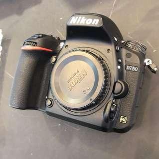 Nikon D750 Body *SC-2500* (Purchase date OCT 2017, warranty till OCT 2019)