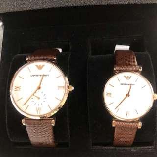 Empirio Armani 情侶手錶 AR9042 型號(全新)