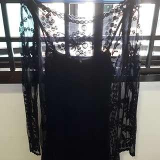H&M Black Lace Top / Mini Dress